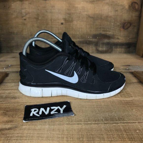 Nike Free 5.0 Black White Cushioned Athletic Shoes